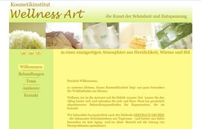 Snapshot Website Kosmetikstudio Wellness-Art